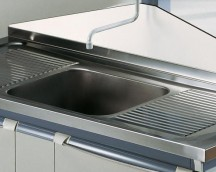 Central sink 150x60cm (stainless steel)