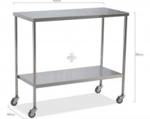 Table surgical instruments, stainless steel., two flat planes 90x40x80