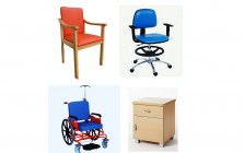 Chairs and tables for hospitals